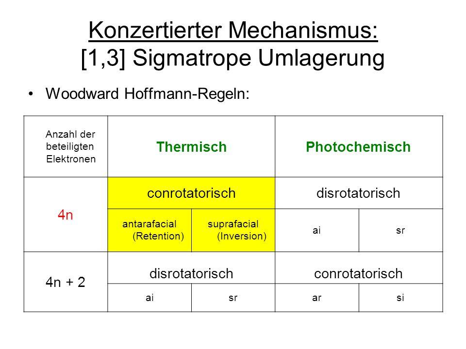 Konzertierter Mechanismus: [1,3] Sigmatrope Umlagerung